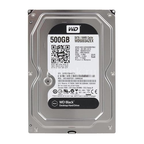 WD Black 500Gb SATA 7200rpm 64M